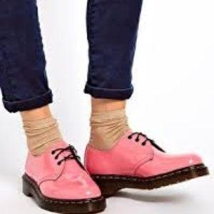 $145~Dr Martens~Acid Pink Patent 1461 Lamper Shoes